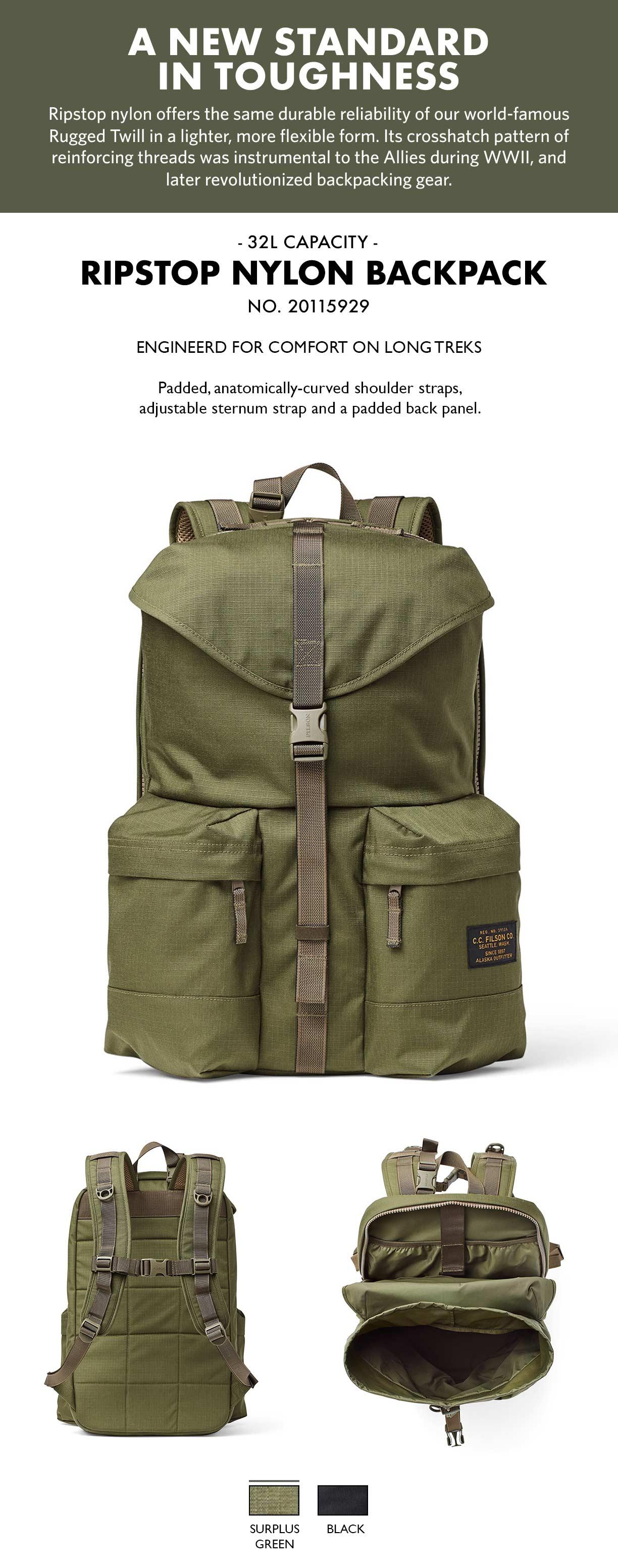 Filson Ripstop Backpack Surplus Green Product-informatie