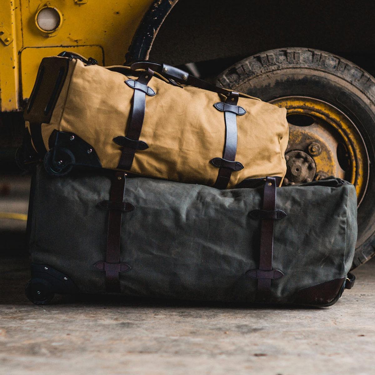 Filson Rolling Duffle Bag Extra Large Otter Green, sterke, hoge capaciteit Duffle, klaar om overal mee naartoe te nemen