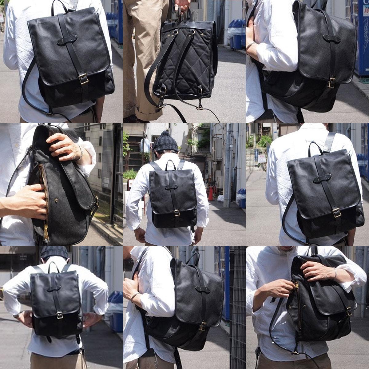 Filson Tin Cloth Backpack Black, stijlvolle rugzak voor iedere trip die jij gaat maken