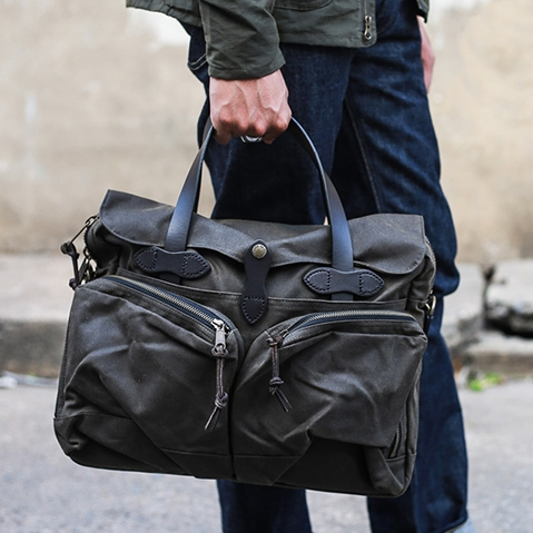 Filson 24-Hour Tin Briefcase Otter Green, perfecte tas voor een weekend weg
