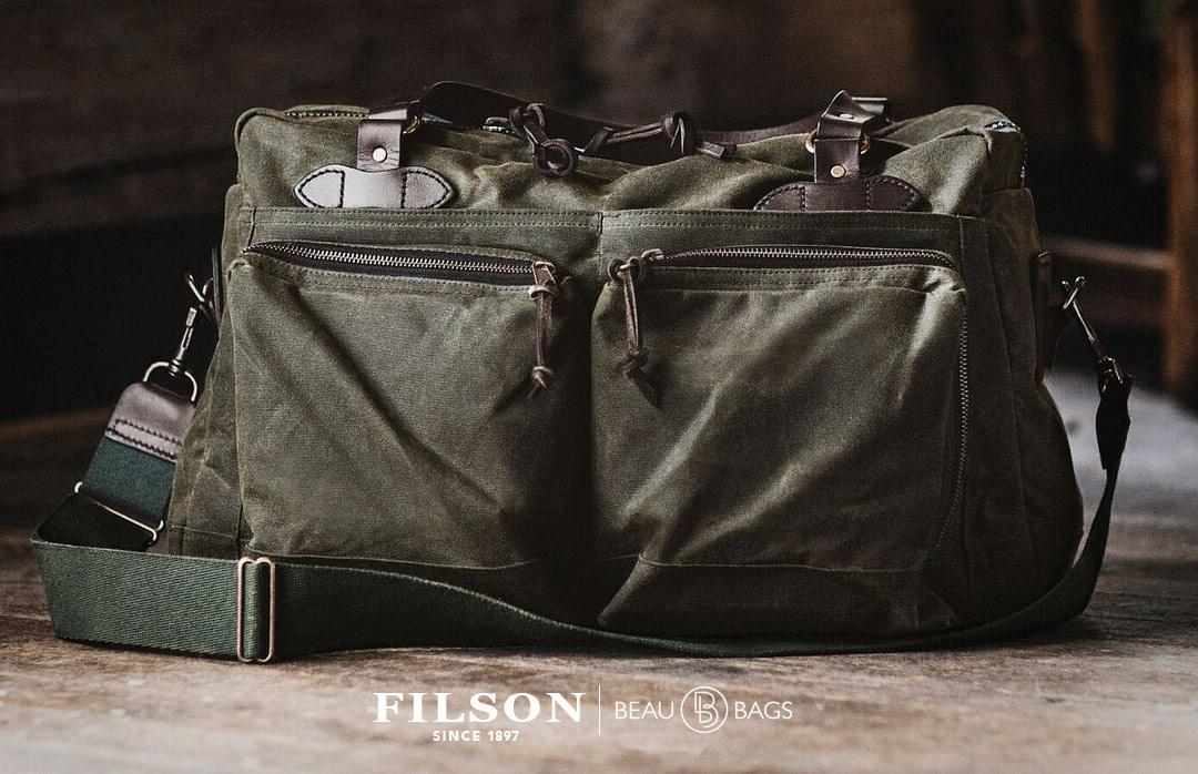 Filson 48-Hour Duffle Otter Green, is uitermate geschikt voor een weekendje weg of een zaken reis