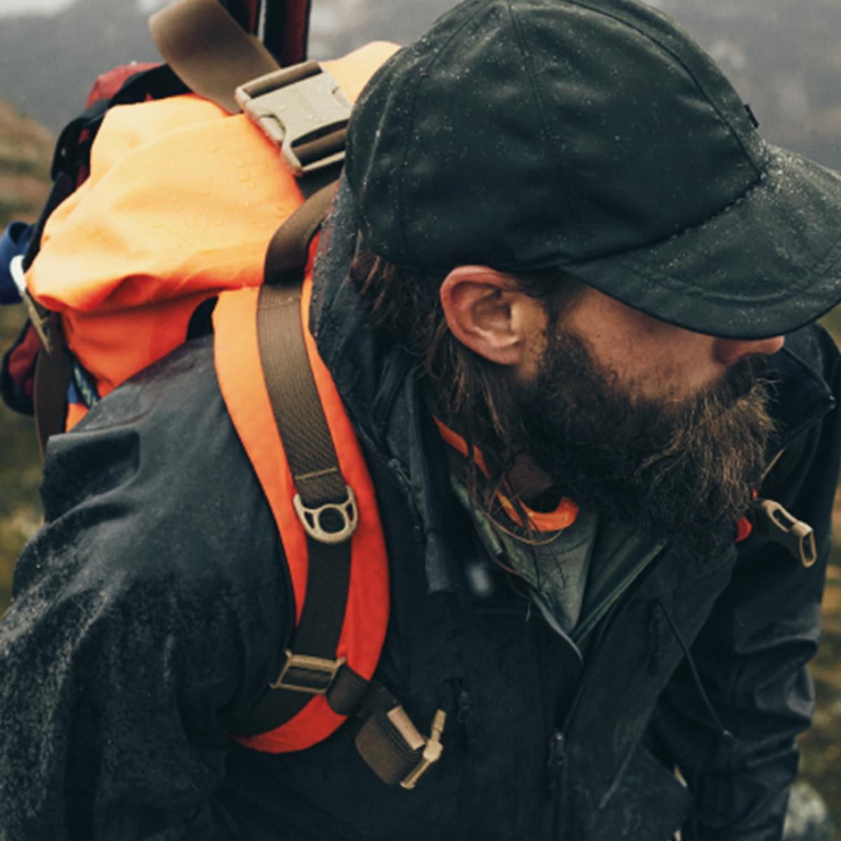 Filson Dry Backpack Flame, voor gebruik in alle weersomstandigheden