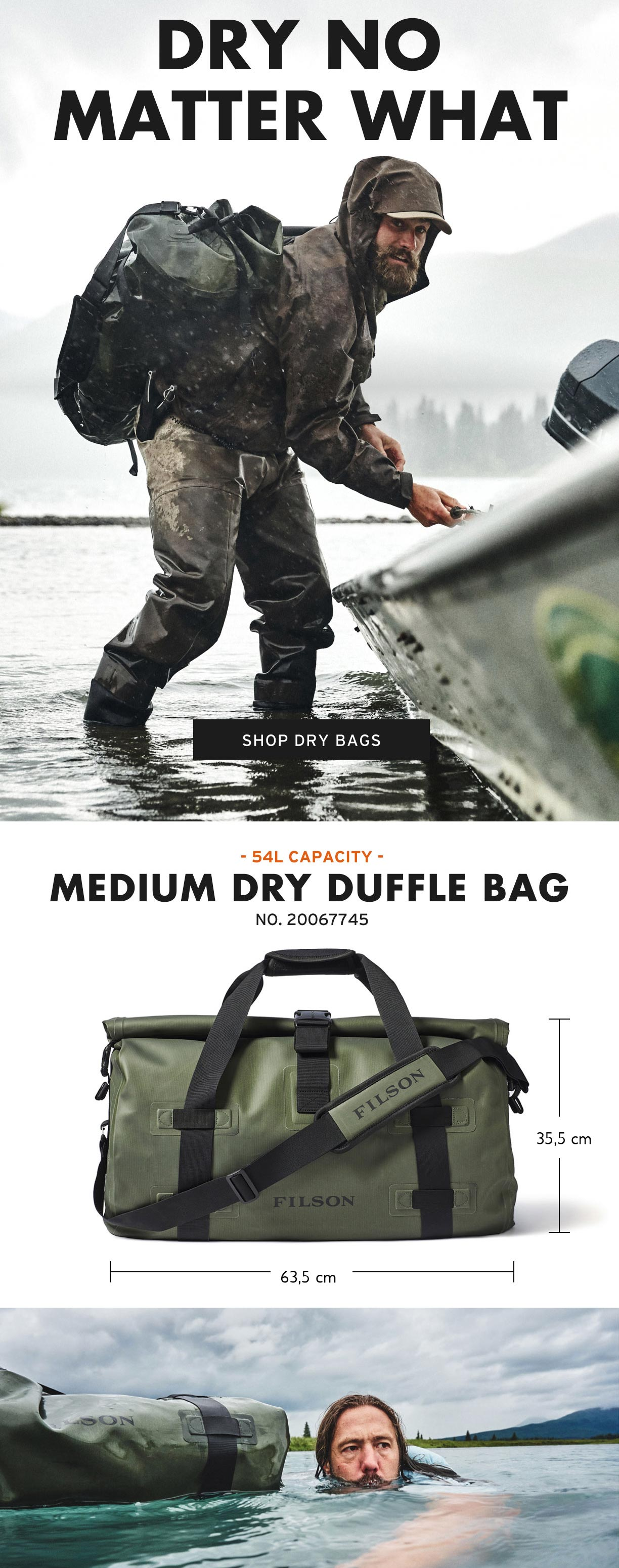 Filson Dry Duffle Medium Productinformatie