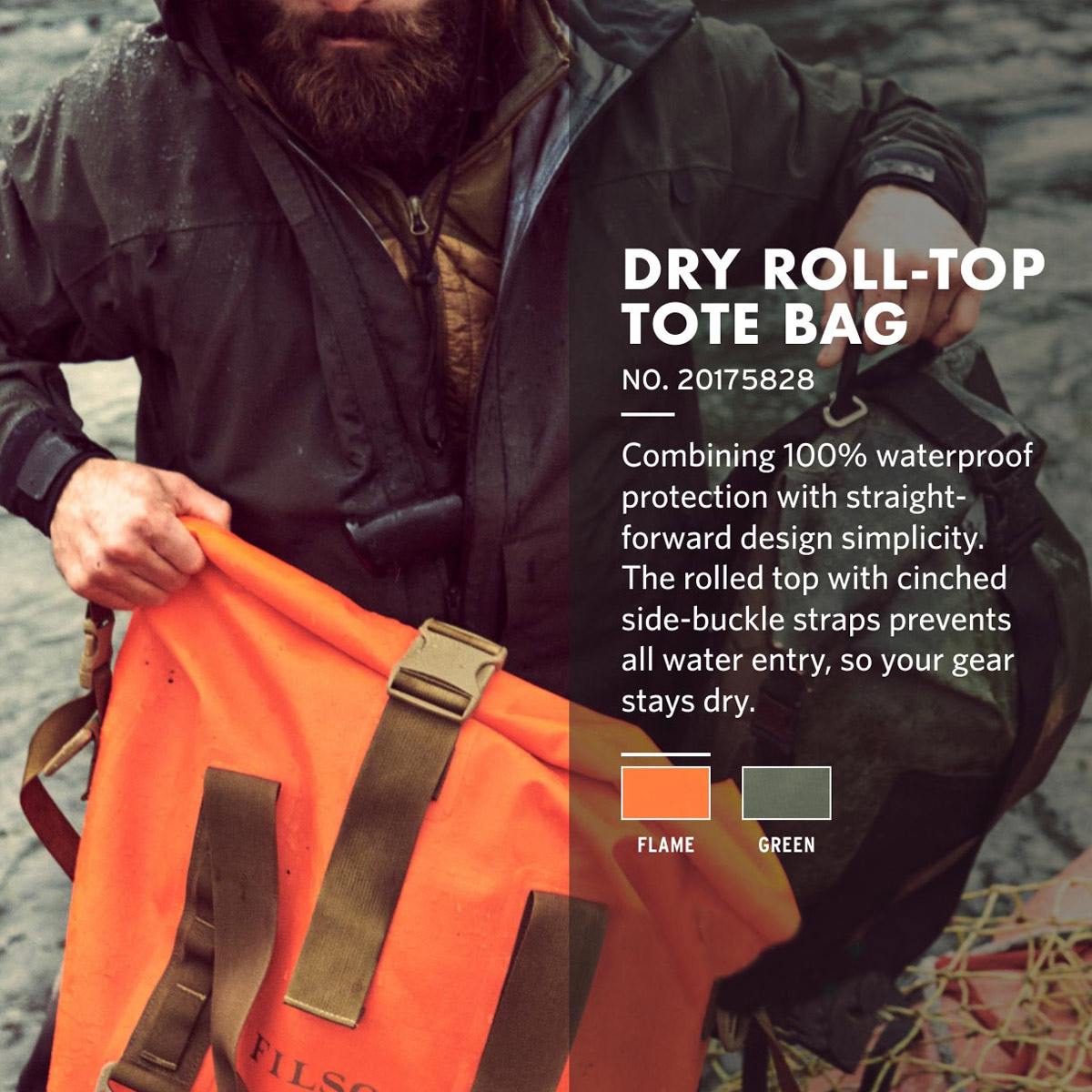 Filson Dry Roll-Top Tote Bag