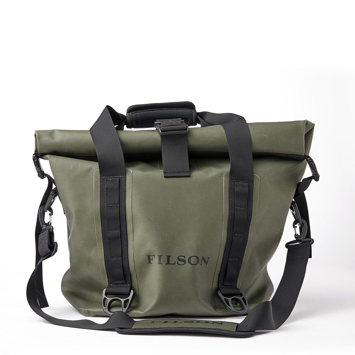 Filson Dry Roll-Top Tote Bag Green, houdt je uitrusting droog in alle weersomstandigheden