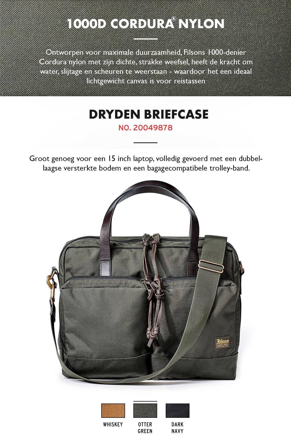 Filson Dryden Briefcase Otter Green Product-informatie