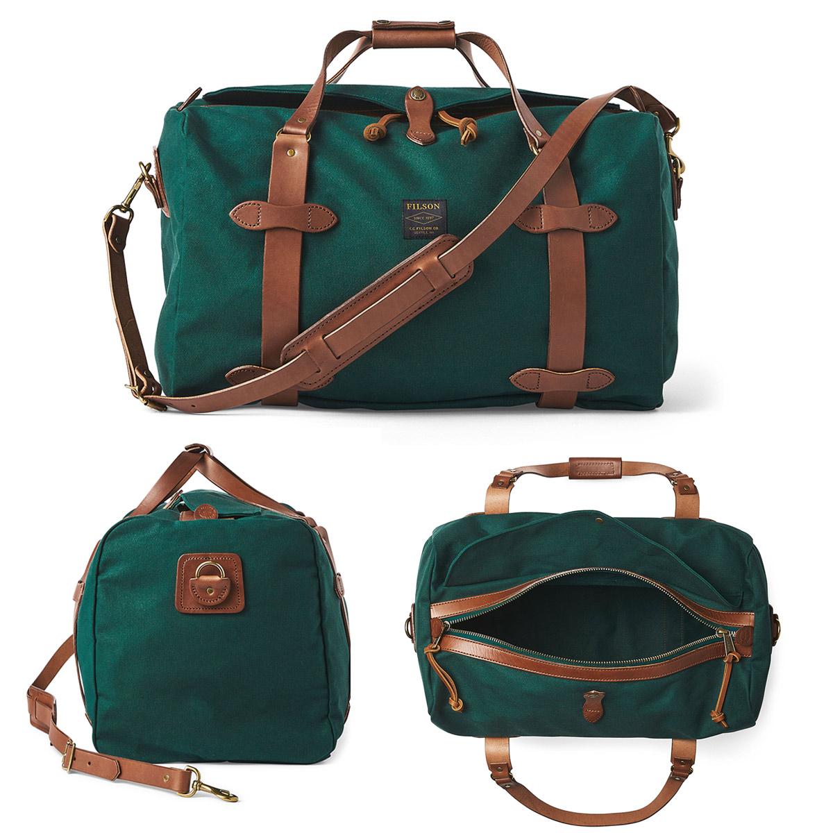 Filson Duffle Medium Hemlock, stoere duffel die voldoet aan de maximale handbagage afmetingen