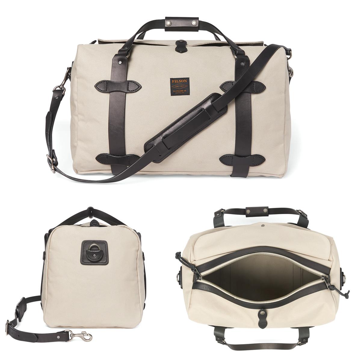 Filson Duffle Bag Medium Twine, stoere duffel die voldoet aan de maximale handbagage afmetingen