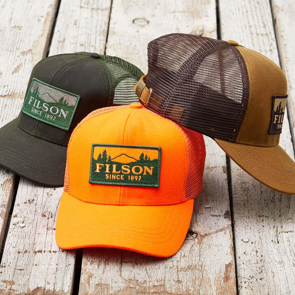 Filson Logger Mesh Cap 11030237-Blaze-Orange, duurzame pet gemaakt van iconisch, waterafstotende Tin Cloth