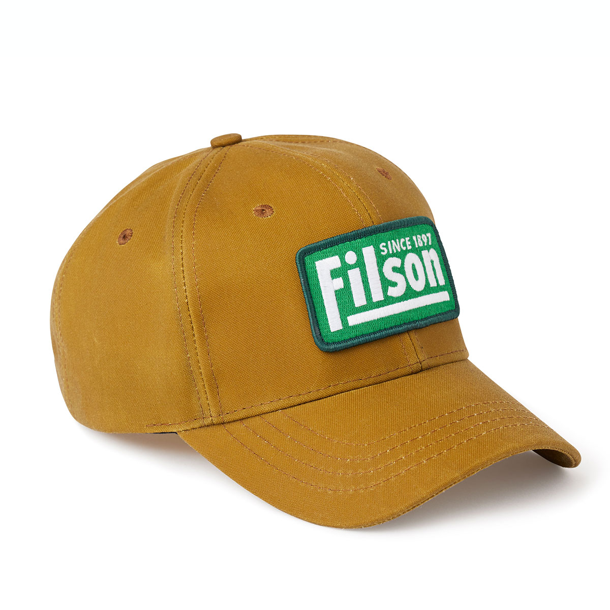 Filson Oil Tin Logger Cap Tan, klassieke pet die beschermt tegen de elementen