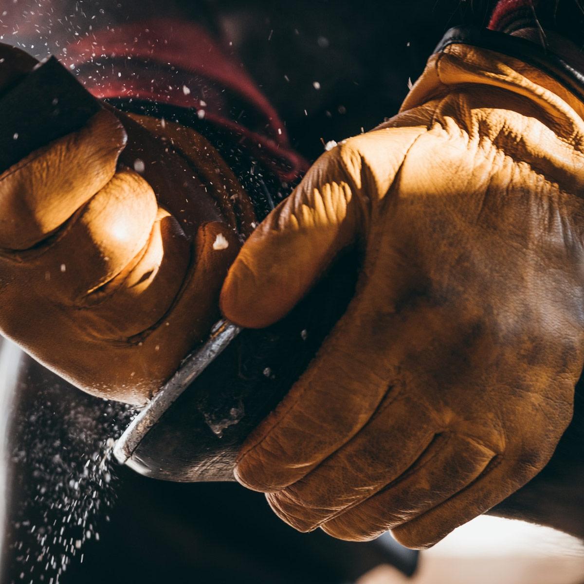 Filson Original Lined Goatskin Gloves 11062022-Tan, gevoerd met Merinowol, voor isolatie in koude omstandigheden