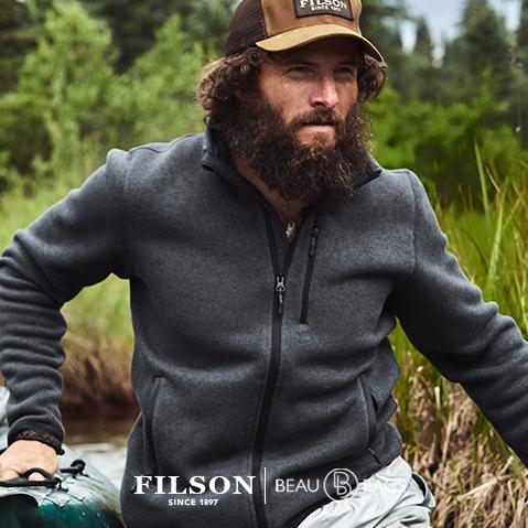 Filson Ridgeway Fleece Jacket Charcoal, comfortable, lightweight quick-drying Polartec® fleece for use in extreme conditions
