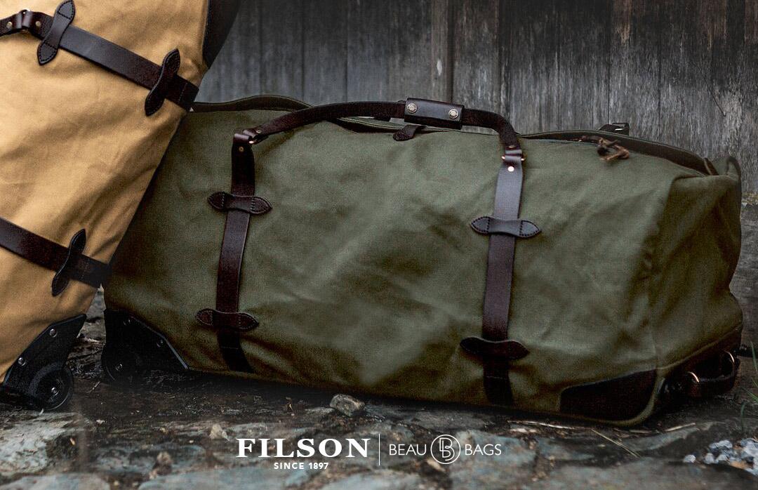 Filson Rolling Duffle Bag Extra Large Otter Green, gemaakt om in stijl te reizen