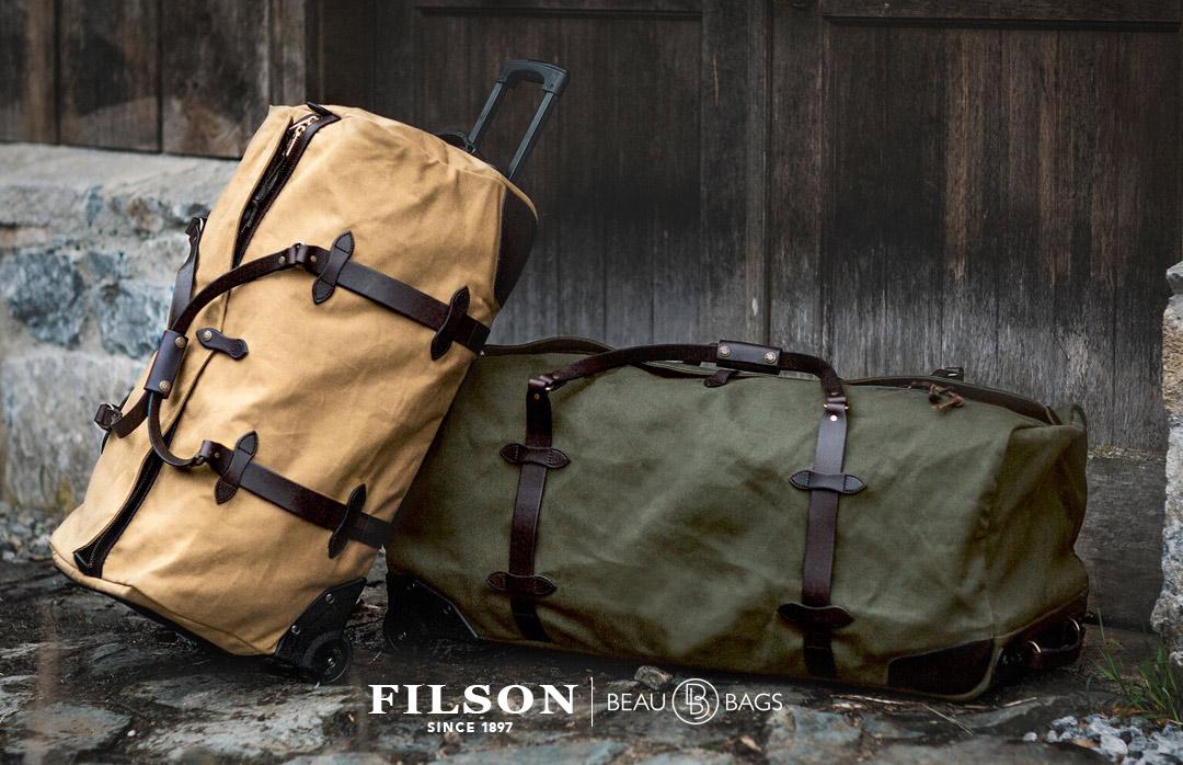 Filson Rolling Duffle-Large Tan, gemaakt om in stijl te reizen