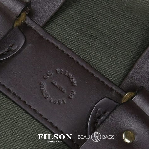 Filson Rucksack Otter Green, detail stamp on back