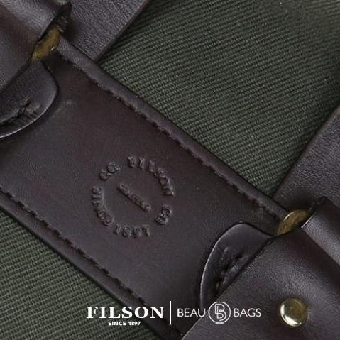 Filson Rucksack Otter Green, detail stamp on back