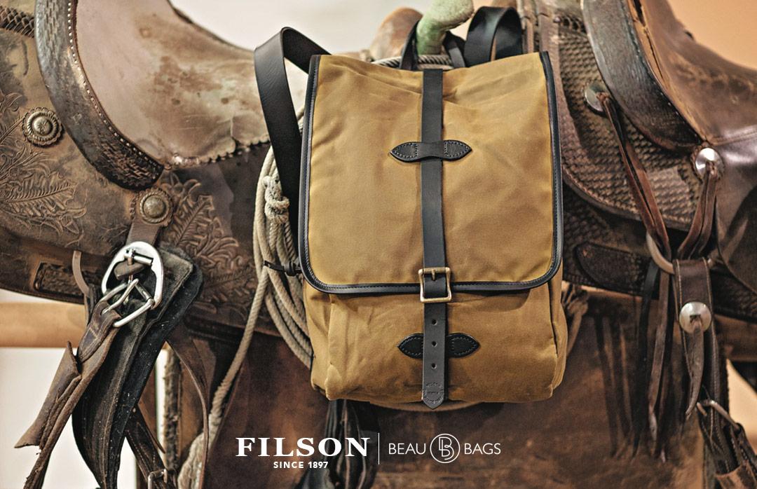 Filson Tin Cloth Backpack Dark Tan, stijlvolle rugzak voor iedere trip die jij gaat maken