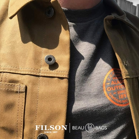 Filson Tin Cloth Short Lined Cruiser Jacket Dark Tan, ultimate work jacket