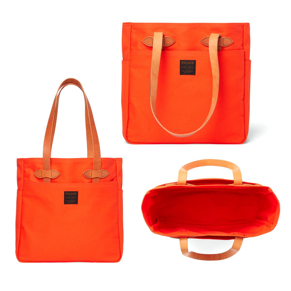Filson Rugged Twill Tote Bag Pheasant Red, gemaakt voor mannen en vrouwen die van gemak, stijl en kwaliteit houden