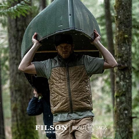 Filson Ultra Light Vest Field Olive, Ultralight PrimaLoft® Gold 60g jas met uitzonderlijke warmte-gewichtsverhouding