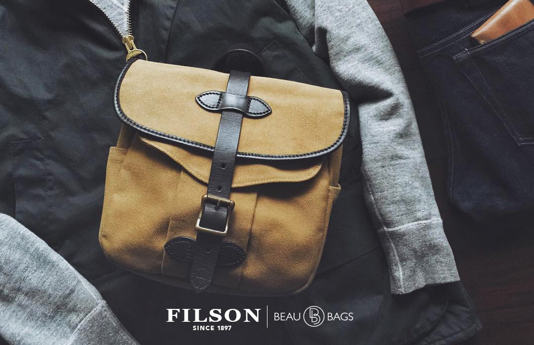 Filson Field Bag Small Tan Lifestyle