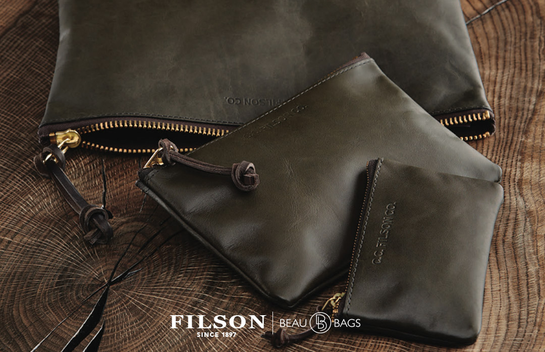 Filson Leather Pouch Moss