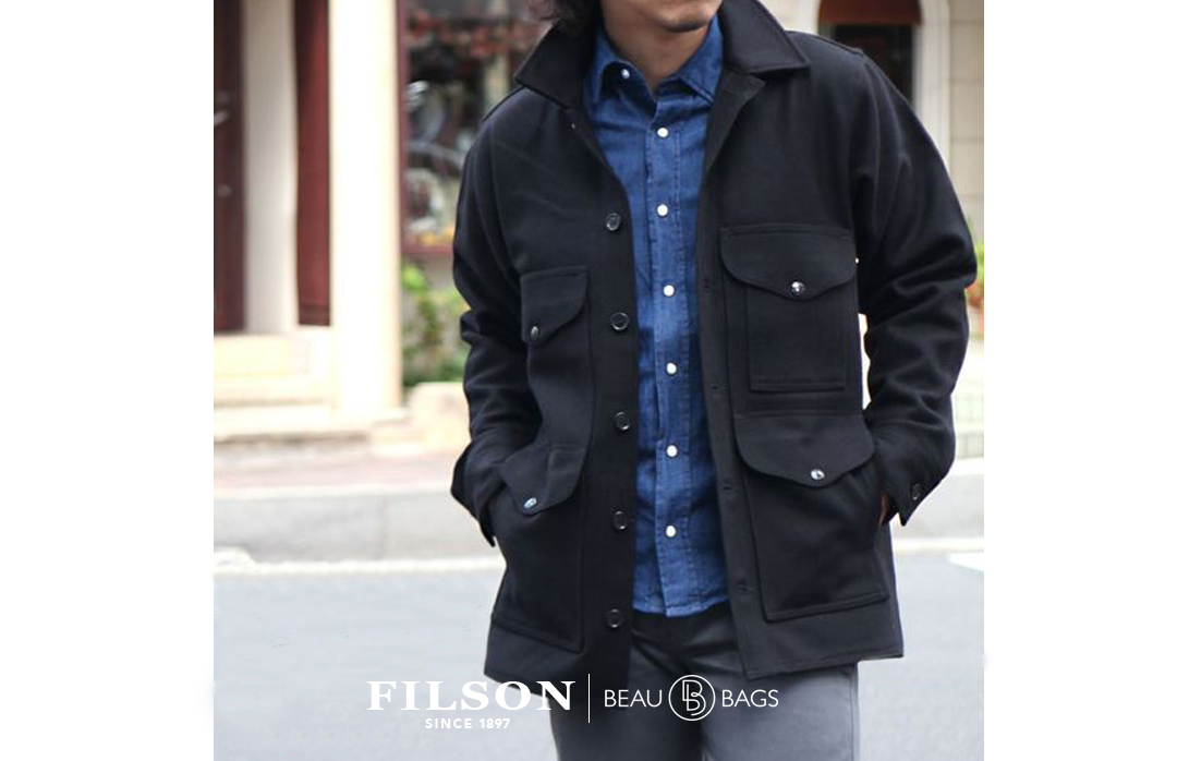 Filson Mackinaw Wool Cruiser Black