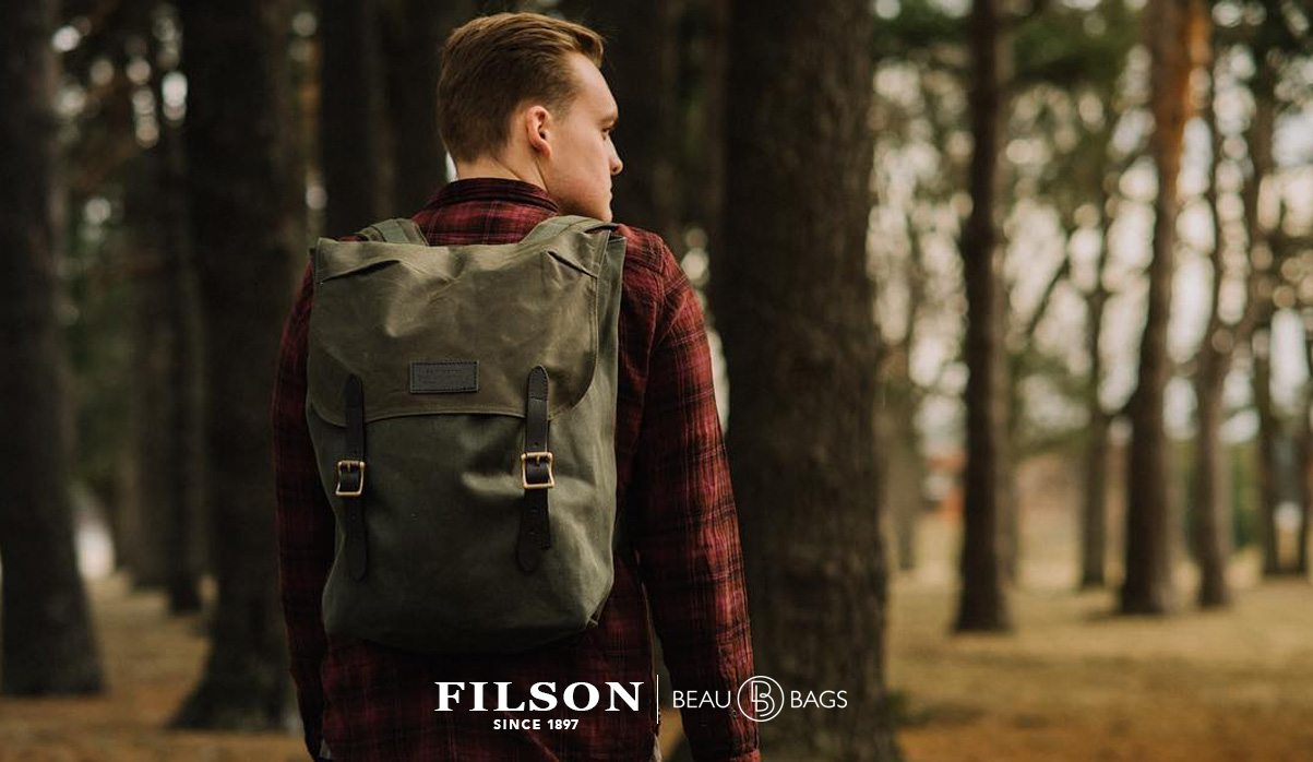 Filson Ranger Backpack 11070381 Otter Green, a rugged, vintage inspired, backpack