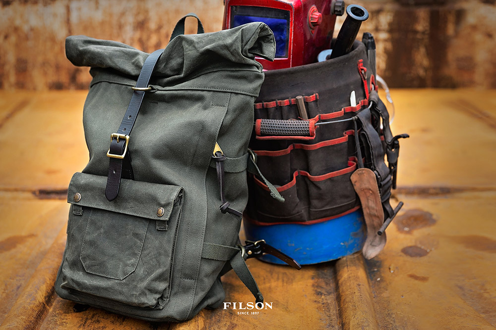 Filson Roll-Top Backpack Otter Green