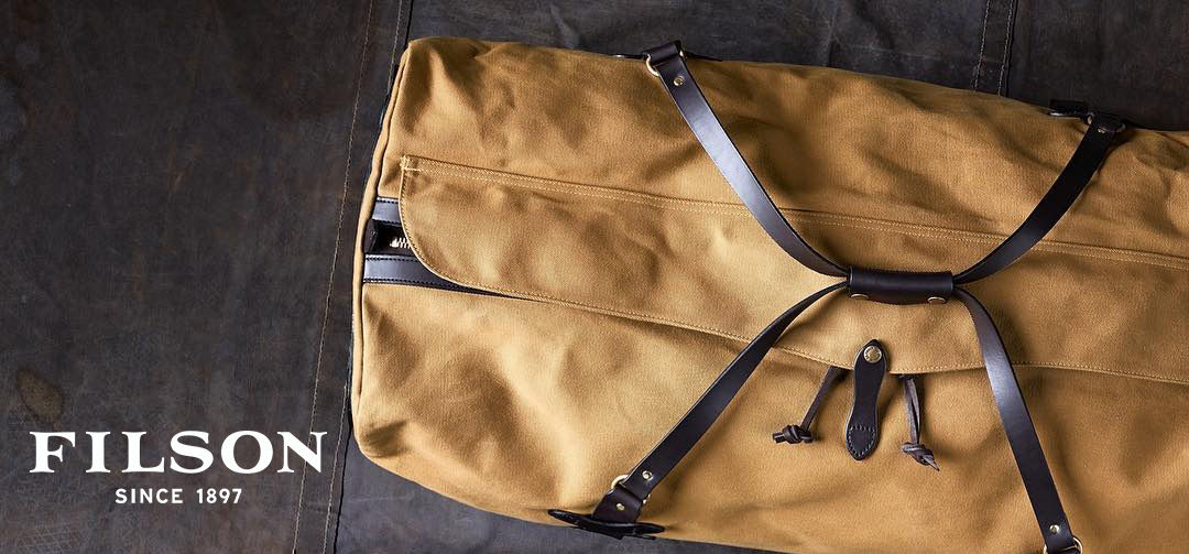 Filson Rolling Duffle Extra Large Tan, stijlvolle reistas met super-pakvolume