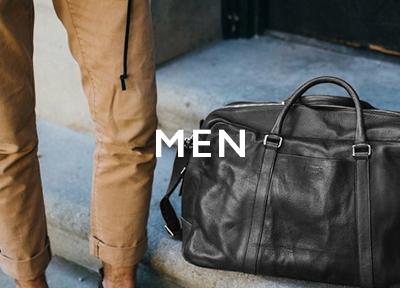 Tassen, rugtassen en kleding voor heren
