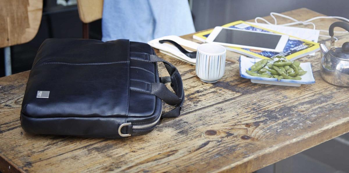 Knomo Stanford, een slanke tas voor zakelijk en privé gebruik.