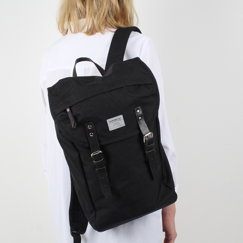 Sandqvist Hans Backpack Black, perfecte 15 inch rugtas voor dagelijks gebruik zowel op het werk als in de natuur