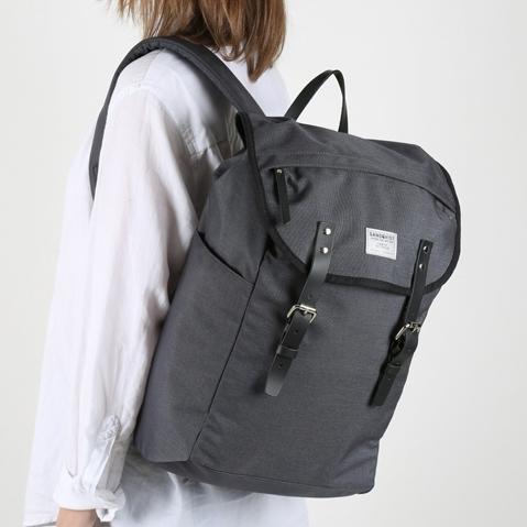 Sandqvist Hans Backpack Dark Grey, perfecte 15 inch rugtas voor dagelijks gebruik zowel op het werk als in de natuur
