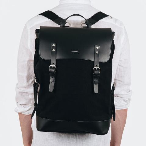 Sandqvist Hege Backpack Black, een perfecte dagelijkse rugzak voor werk en vrije tijd