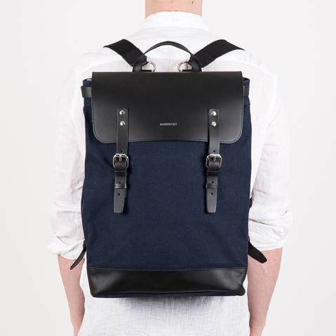 Sandqvist Hege Backpack Blue, een perfecte dagelijkse rugzak voor werk en vrije tijd