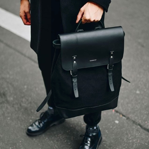 Sandqvist Hege Backpack Beluga, 15 inch ruime unisex rugzak met een geraffineerd design