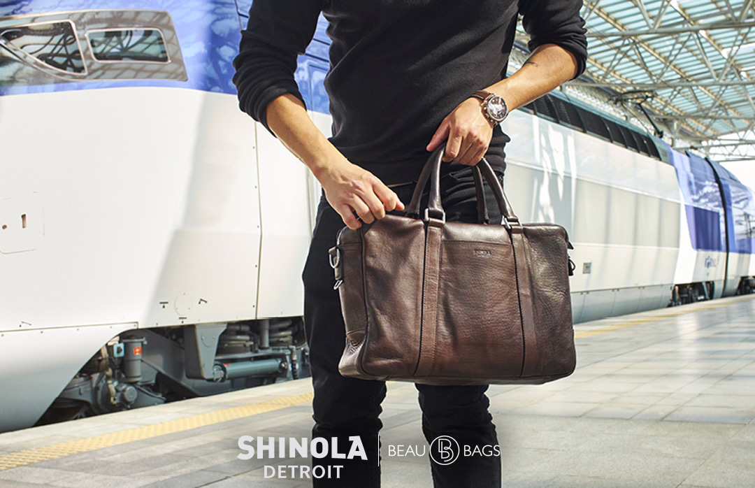 Shinola Slim Briefcase Deep Brown, great briefcase for on the go