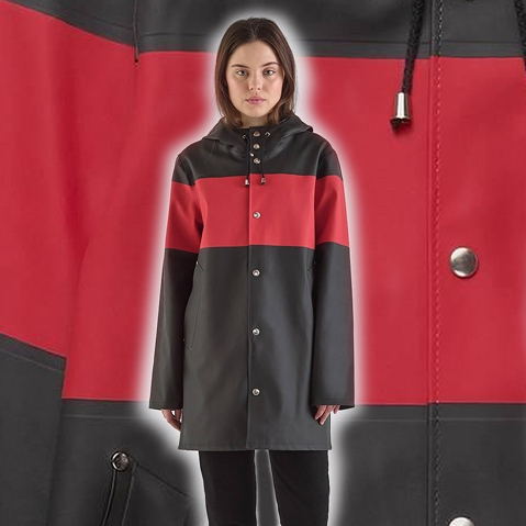 Stutterheim Stockholm Stripe Black Red