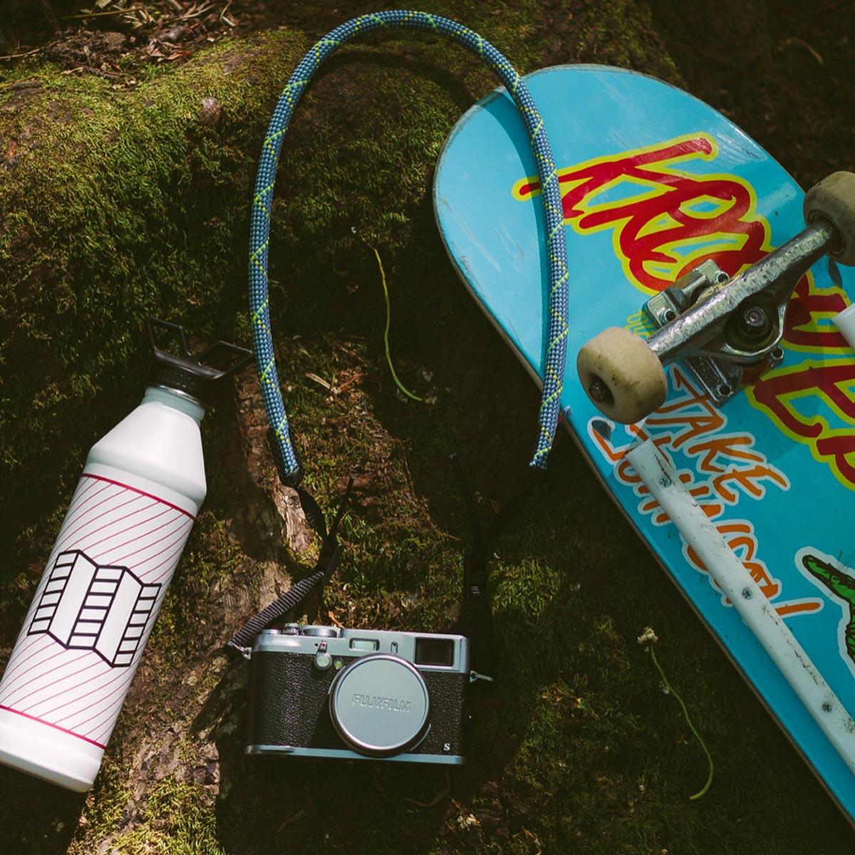 Topo Designs Camera Strap Blue, heavy-duty camera strap with outdoor style