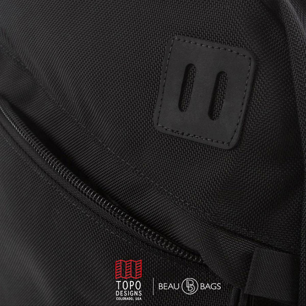Topo Designs Daypack Ballistic Black Leather, ook op vakantie je beste vriend