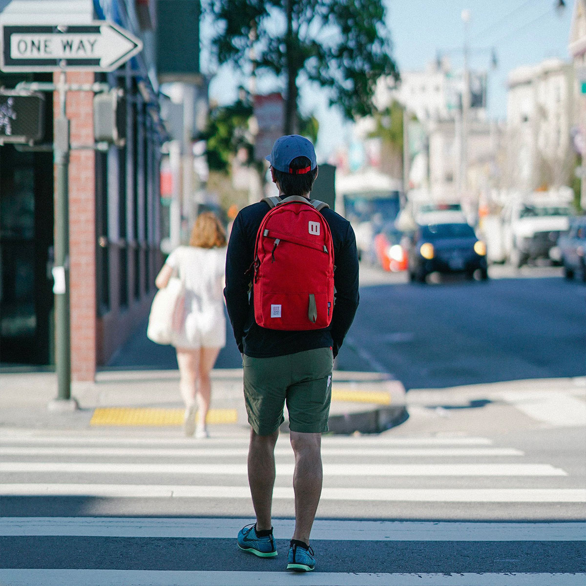 Topo Designs Daypack Red, sterke rugzak in 1000D Cordura met 15 inch laptopvak