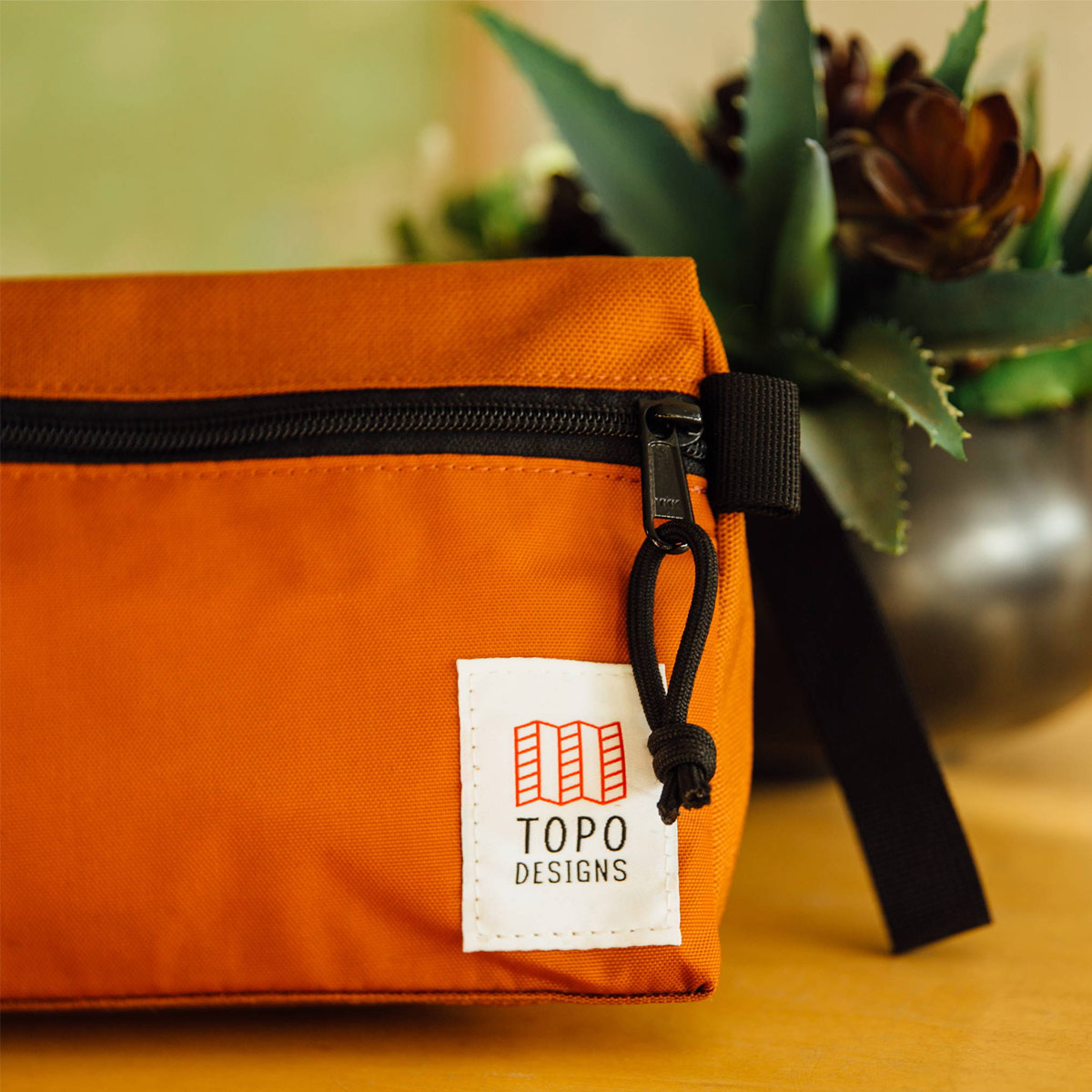 Topo Designs Dopp Kit Clay, water-resistant, travel light, accessory bag