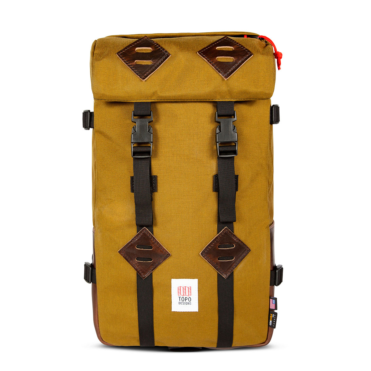 Topo Designs Klettersack Duck Brown/Brown Leather Lifestyle, classic backpack for men and women