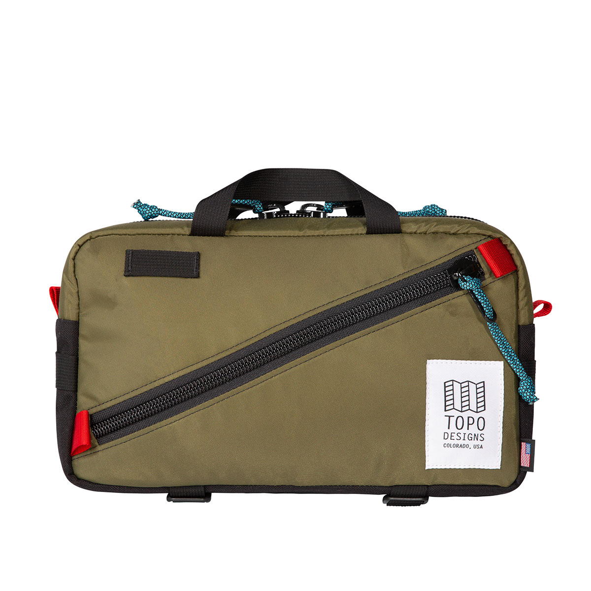 Topo Designs Quick Pack Olive/Black, a well-built, secure bag for travel