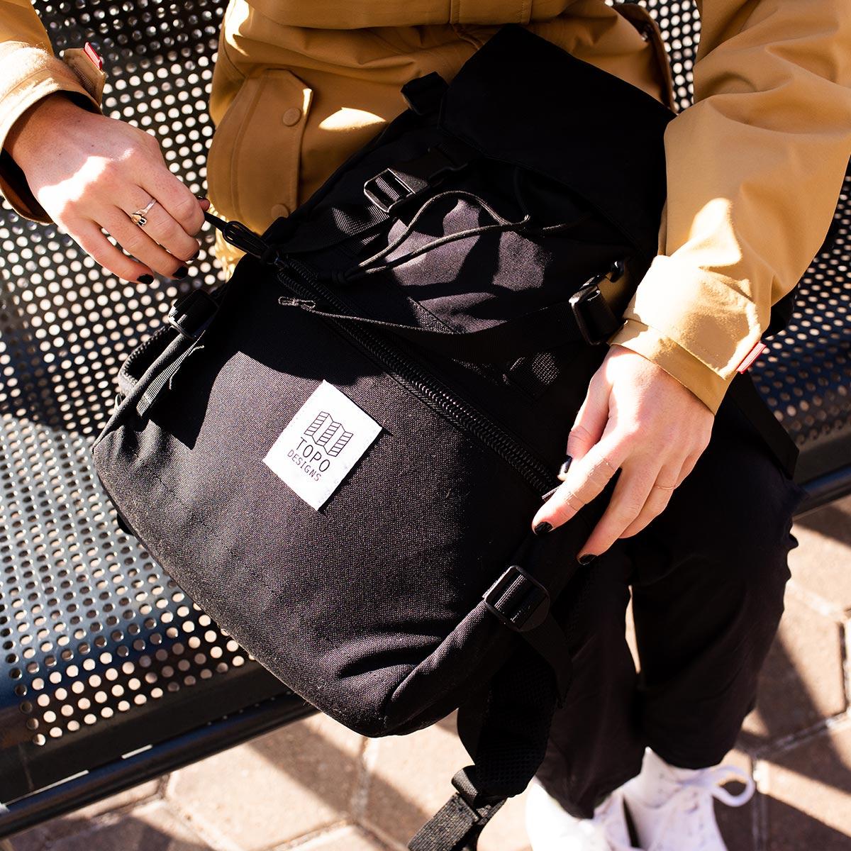 Topo Designs Rover Pack Classic Black, de ultieme rugzak voor dagelijks gebruik