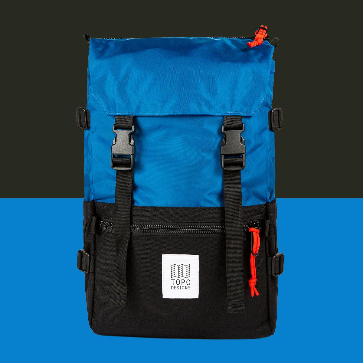 Topo Designs Rover Pack Classic Blue/Black, de ultieme rugzak voor dagelijks gebruik