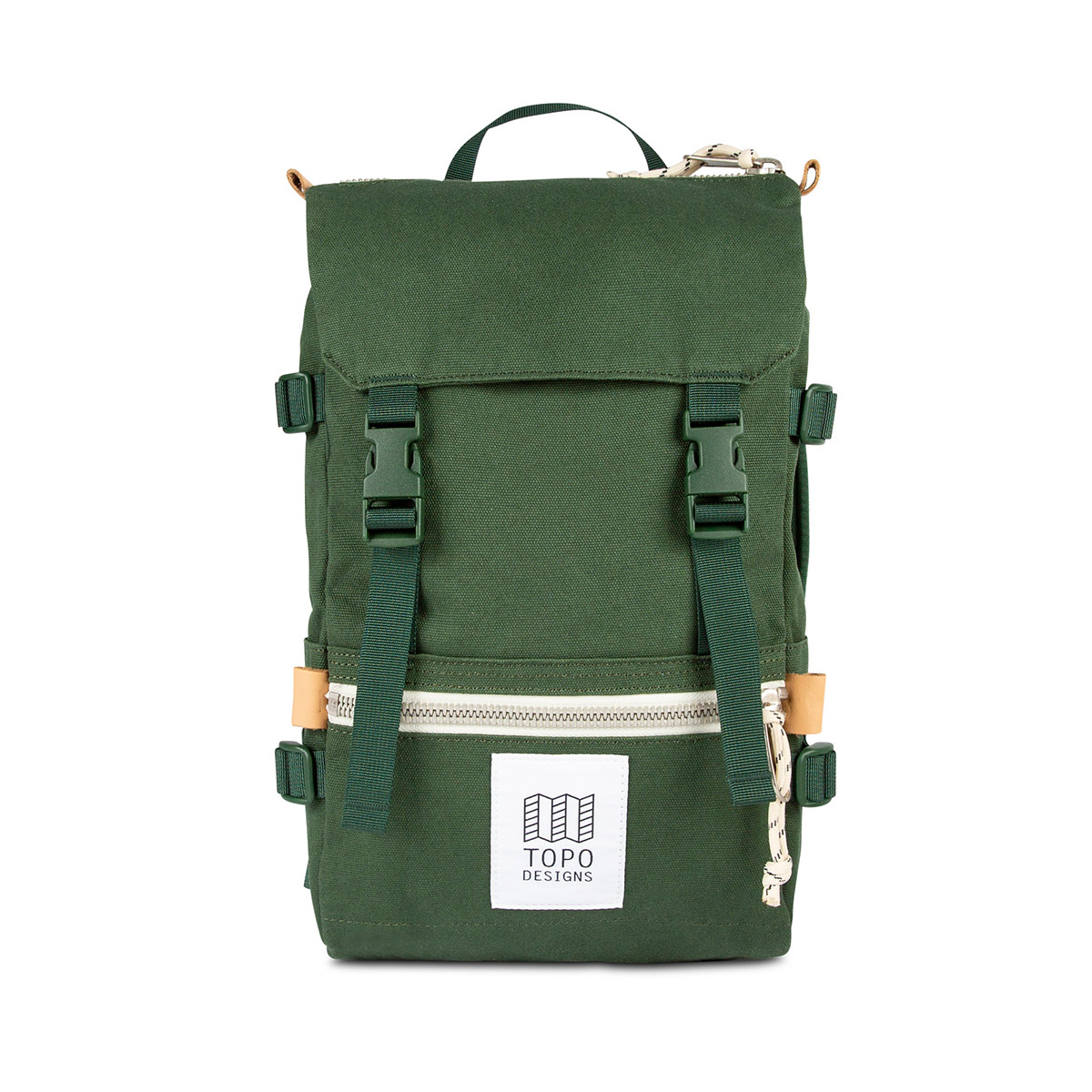 Topo Designs Rover Pack - Mini Canvas Forest, statement-making bag that's the perfect size for errands around town or on the trail