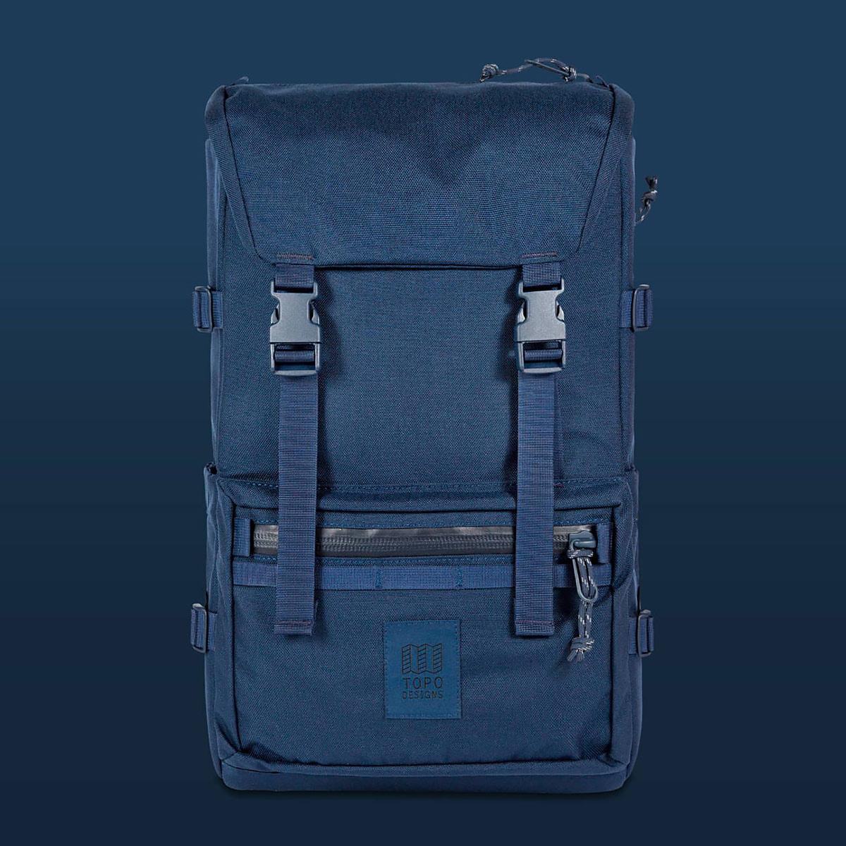 Topo Designs Rover Pack Tech Navy, tijdloze rugzak met moderne functionaliteiten voor dagelijks gebruik