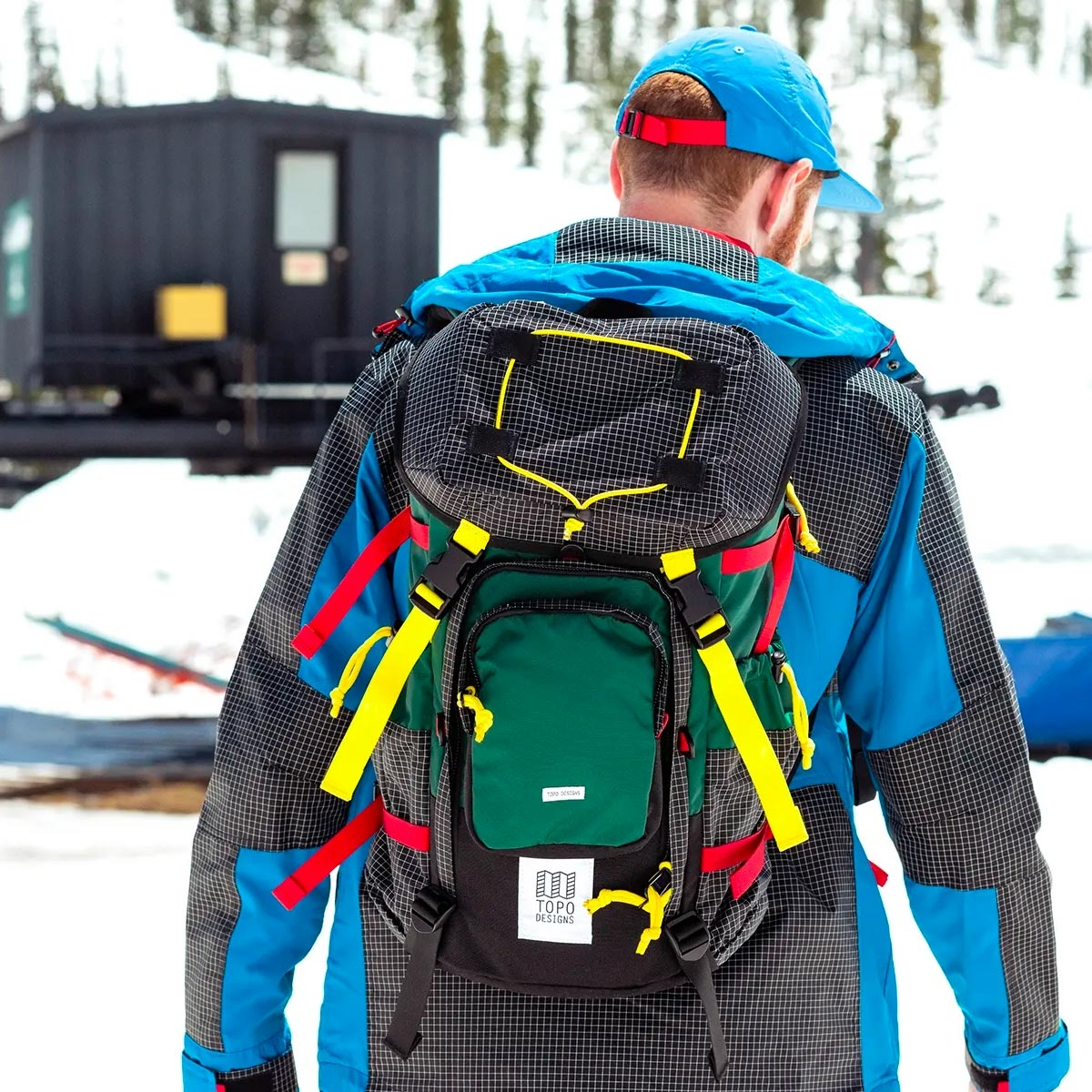 Topo Designs Topo Designs Subalpine Pack Forest, with a roomy main compartment make this the perfect pack for hiking